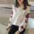 2017 New Spring Striped Shirt Korean fashion elegant Style embroidery Flower Female sweet casual loose top 923B 30