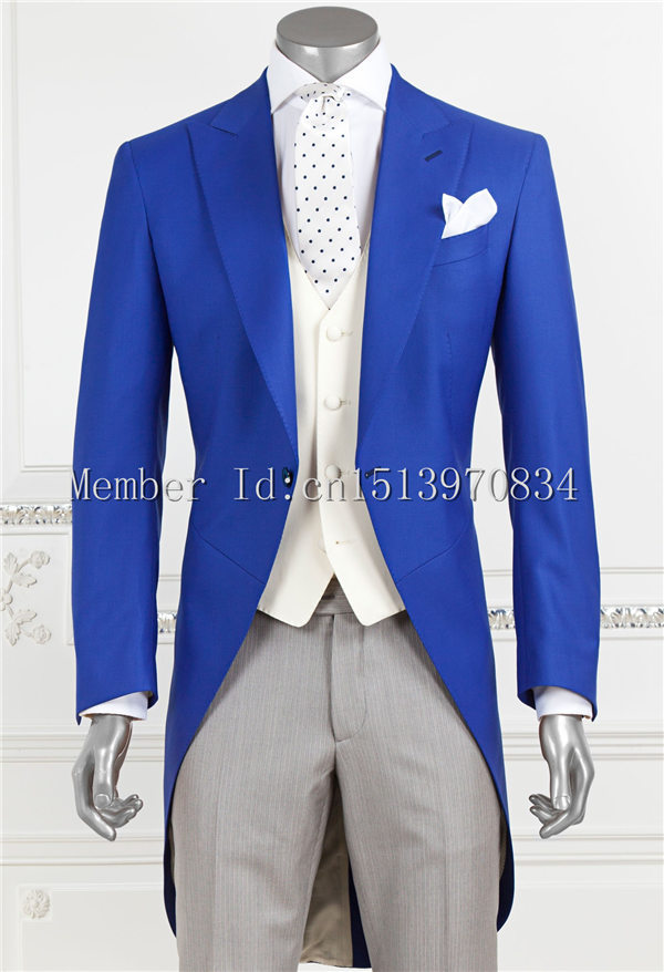2015 Morning Suit Groom Tuxedos Notch Lapel Groomsmen Men Suits ...