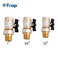 Frap New Brass Pipe Ball Valve Female Threaded 1 2 3 4 1 Sanitary Shut Off