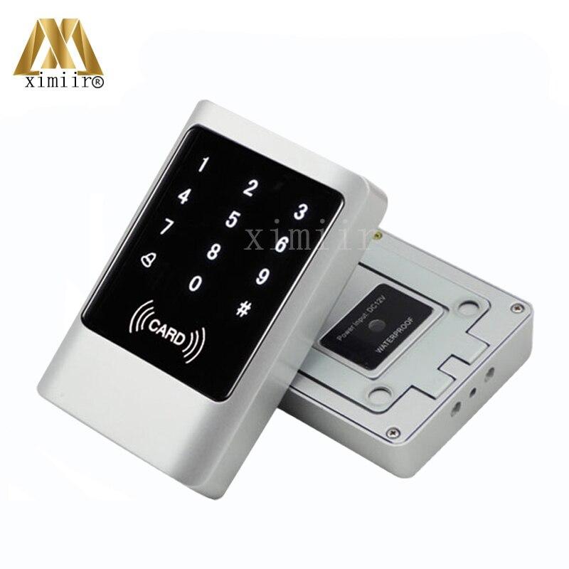Bonne qualité IP68 écran tactile en métal porte contrôle d'accès lecteur de carte 125 KHZ RFID carte intelligente proximité carte Wiegand lecteur de carte