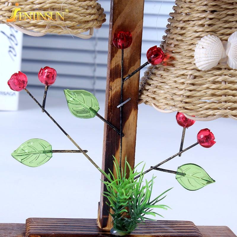 Neuheit Beleuchtung Mode Garten Stil Holz Bambus Schale Dekoration