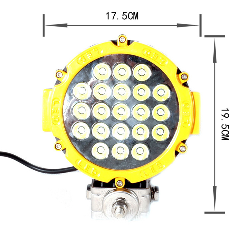 63W LED Driving Working light 7inch LED Offroad light bar for Car Boat Tractor Truck SUV ATV 4X4 10-30v DC SPOT FLOOD BEAM LAMP