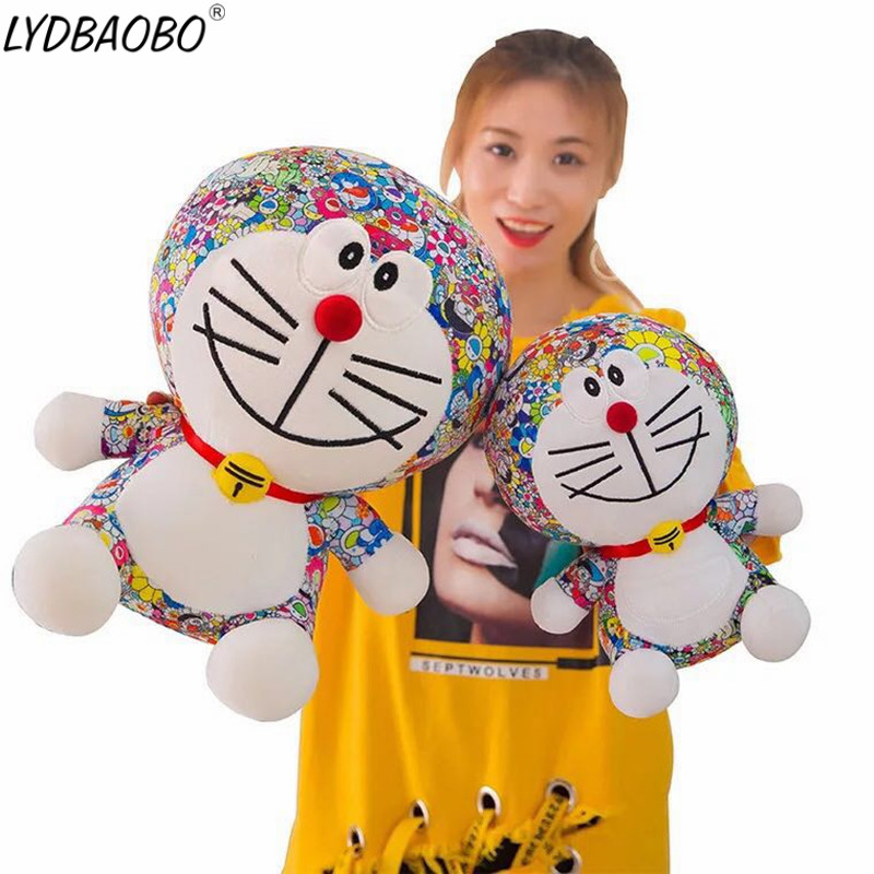 LYDBAOBO 1PC 45CM Anime Doraemon Plush Toys Cute Cat doll Soft Stuffed Animals Baby Toy For Kids Gifts Doraemon Figure Gifts Toy