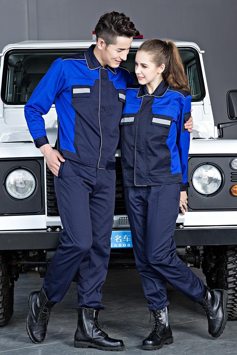 S-4XL! 2018 ремонтные работы комплект одежды мужская одежда Длинные рукава машина ремонт носить и носить одежды больших ярдов мужская одежда!!