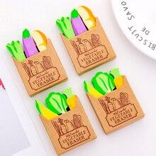 3pcs/lot Creative stationery cartoon Radish vegetable styling eraser primary school prizes kawaii supplies