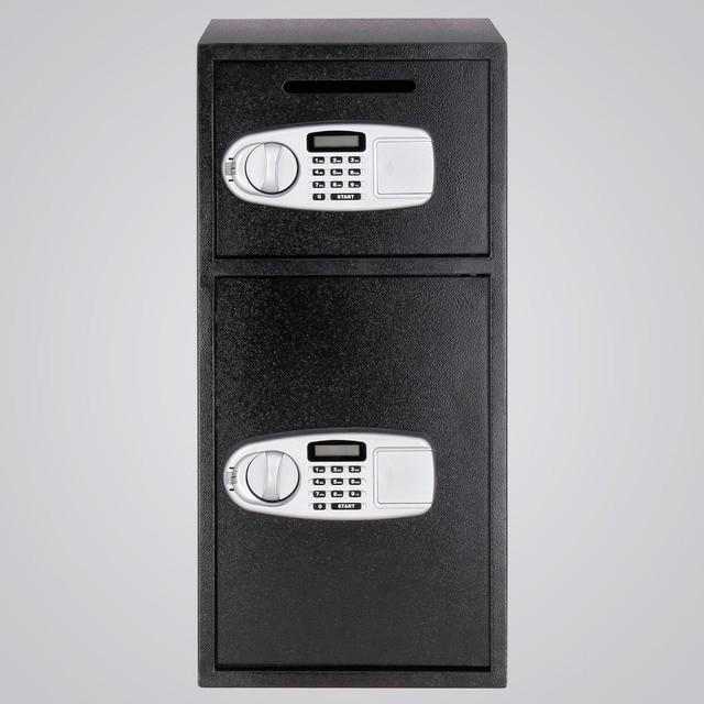 Boîte de dépôt à DOUBLE porte   Boîte de dépôt de sécurité numérique, coffre-fort pour rangement darme à feu, fente de dépôt de luxe