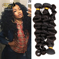 "Grade 7A On Sale 8""-30"" Brazilian Loose Wave Hair Weaving 3Pcs/Lot Unprocessed Virgin Brazilian Hair Extension Human Hair Bundle"