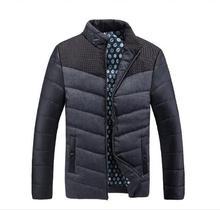 parkas Classic men's fashion brand warm coat big yards L-4XL Design Patchwork Plaid young man winter jackets  898