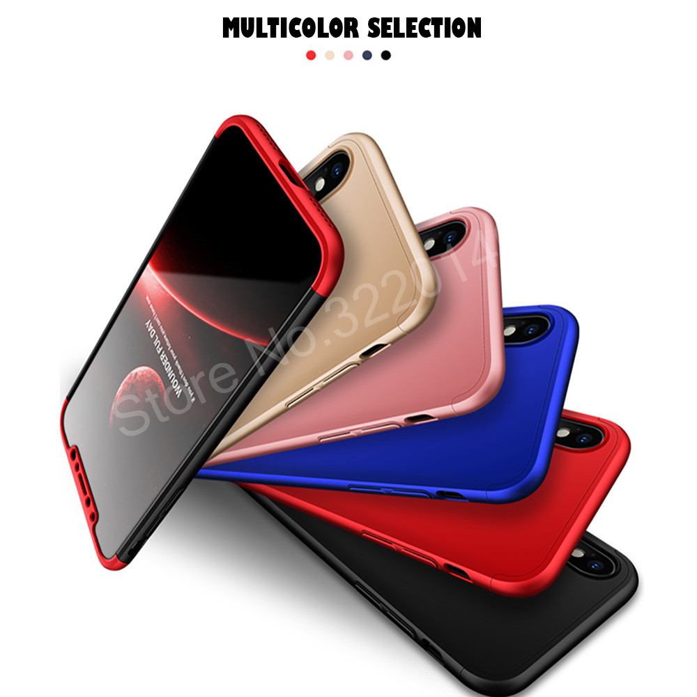 Protection Case For iphone X 6 6s plus 7 8 plus Cover Luxury PC Hard Shockproof 360 Degree Cover For iphone 8 7 plus Back Cases2