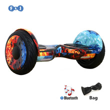 FLJ 10.5 inch Hoverboard Self Balancing Scooter Samsung Battery Giroskuter Gyroscooter Overboard Gyro Scooter with Bluetooth Key