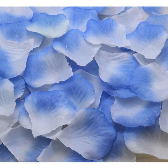 200pcs blue white wedding accessories Artificial Silk Flower Rose