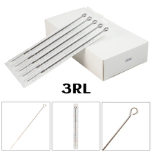 10pcs 3RL Tattoo Needles Round Liner Tattoo Machine Needles Stick Poke Needles Disposable Sterile Stainless Steel Grips Needles