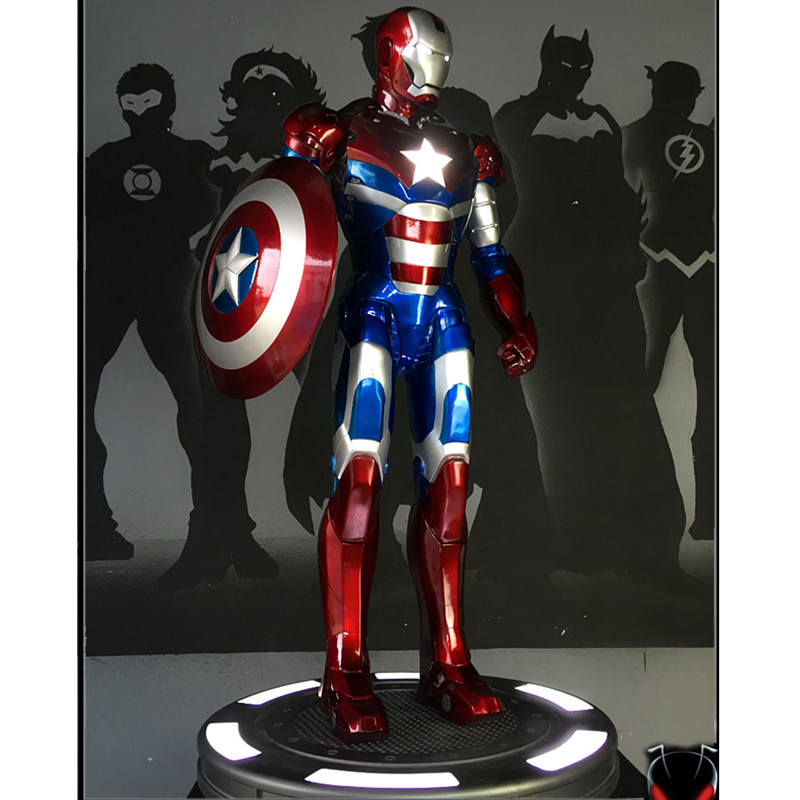 Presale The Avengers 4 Iron Man Patriot Statue GK 1/2 Bust Figure Collect Model Toy (Delivery Period:30 Day) M1020Presale The Avengers 4 Iron Man Patriot Statue GK 1/2 Bust Figure Collect Model Toy (Delivery Period:30 Day) M1020