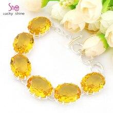 Pulsera Cristalina de la Manera de Calidad superior nuevo llega la moda Brazalete de Cristal amarillo Para Mujer Agradable B1085 Regalo Envío Gratis