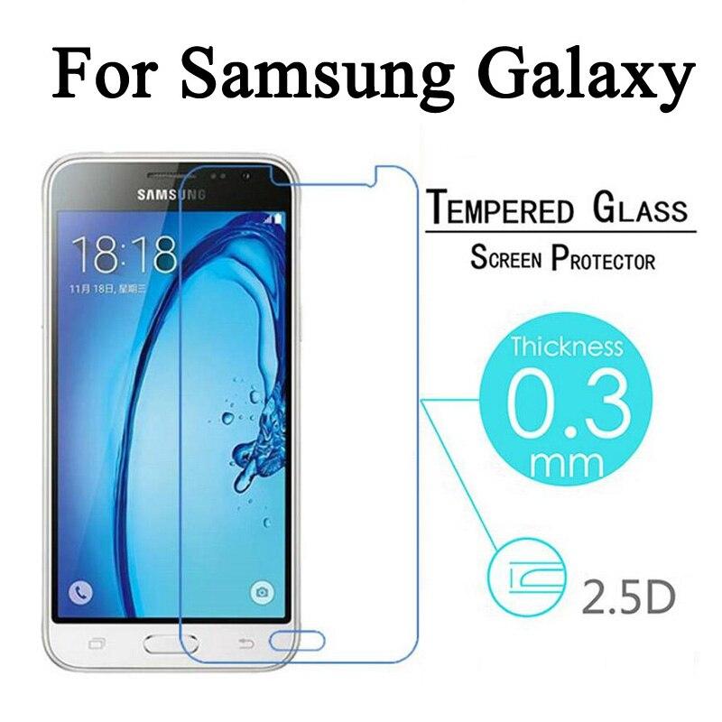 EKDME Tempered Glass For Samsung Galaxy Grand Prime Core 2 S6 S5 S4 S3 S2 A3 A5 A7 A8 Note 3 4 5 S E7 E5 Screen Protector Film