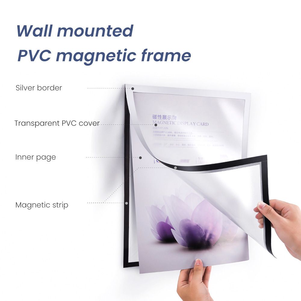 Wall Mounted Adhesive PVC Certificate Document Display Frame Poster Advertising Sign Board Paper Presentation Board