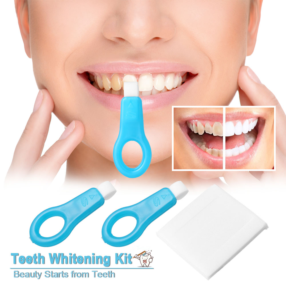 Oral Cleaning Teeth Whitener Kit Nano Cleaning Brush Tooth Stains Remover Teeth Cleaning Strips for Oral Care Deep Cleaning