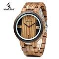 BOBO BIRD кварцевые часы для мужчин Зебра Деревянный чехол аксессуар циферблат деревянный ремешок индивидуальный подарок OEM J-Q19