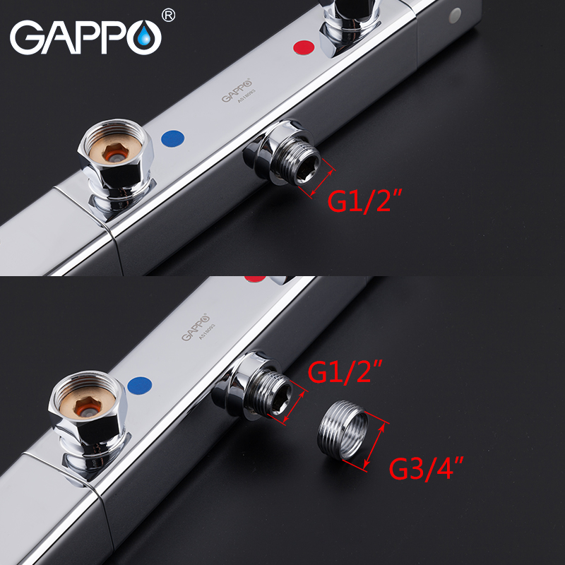 GAPPO Bathtub Faucets chrome bathroom shower wall mounted thermostat bathtub faucets brass bath taps shower mixer griferia