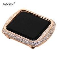 For Apple Watch Case Series 4/3/2/1 Metal Aluminium Frame Diamond Watch Case for apple watch 40mm/44mm/38mm/42mm cover