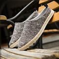 2017 Лето Мужчины Повседневная обувь Рыбак Отдыха Тростника Обувь Холст Обувь Дышащая Наружный мужская Обувь