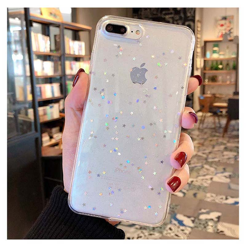 HTB151yYM9zqK1RjSZFjq6zlCFXay - Lovebay Bling Star Glitter Soft TPU Phone Cases For iphone 11 Pro XS Max XR X 8 7 6 6S Plus 5S SE Powder Transparent Cover