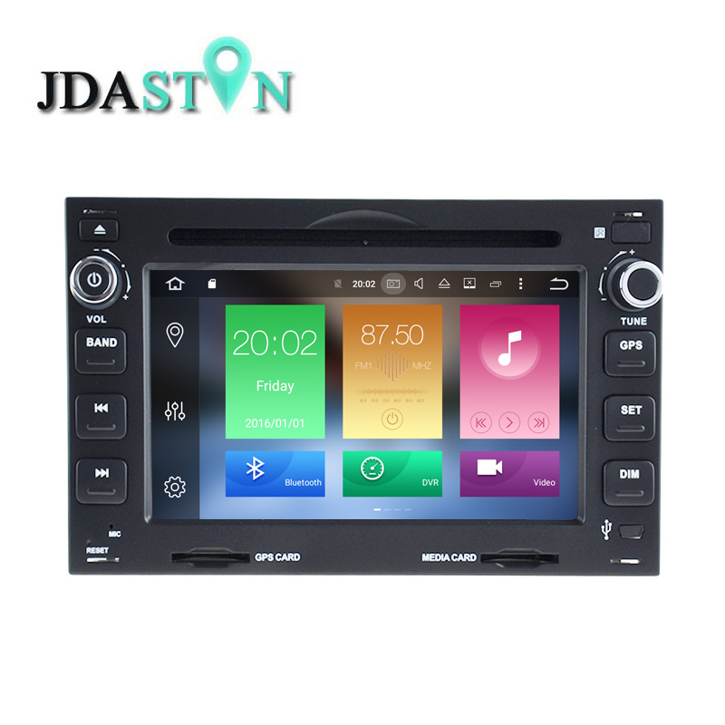 JDASTON 2DIN Android6 0 font b Car b font DVD Player For Volkswagen VW Bora Golf