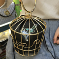 Bird Box Design Vintage New Woomen Handbags Metal Day Clutches Handle Clucthces For Wedding/Party/Dinner Evening Bag