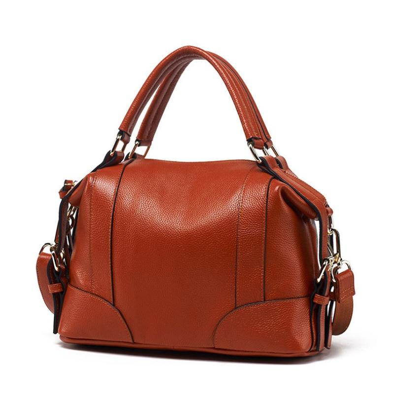 Homeda Woman Genuine Leather Handbag Designer Large Capacity Crossbody Bags Soft Shoulder Bag Bolsa Feminina genuine leather peekaboo handbag solid woman ladies crossbody purse lock medium handbag bolsa 2015 new designer trend