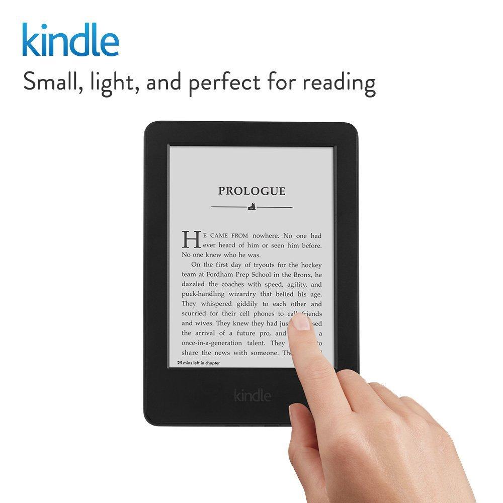 Kindle Black 2016 version écran tactile, logiciel Kindle exclusif, lecteur de livres électroniques Wi-Fi 4 GB eBook e-ink 6 pouces - 2