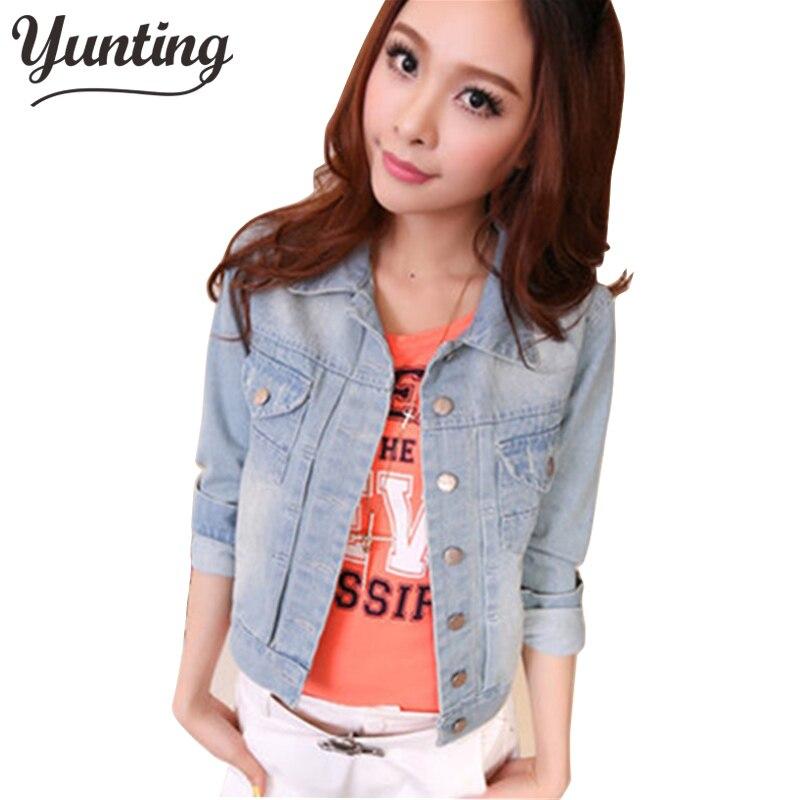 2019 autumn female water wash short design denim long-sleeve slim elegant jacket women trendy casual jean coat outerwear