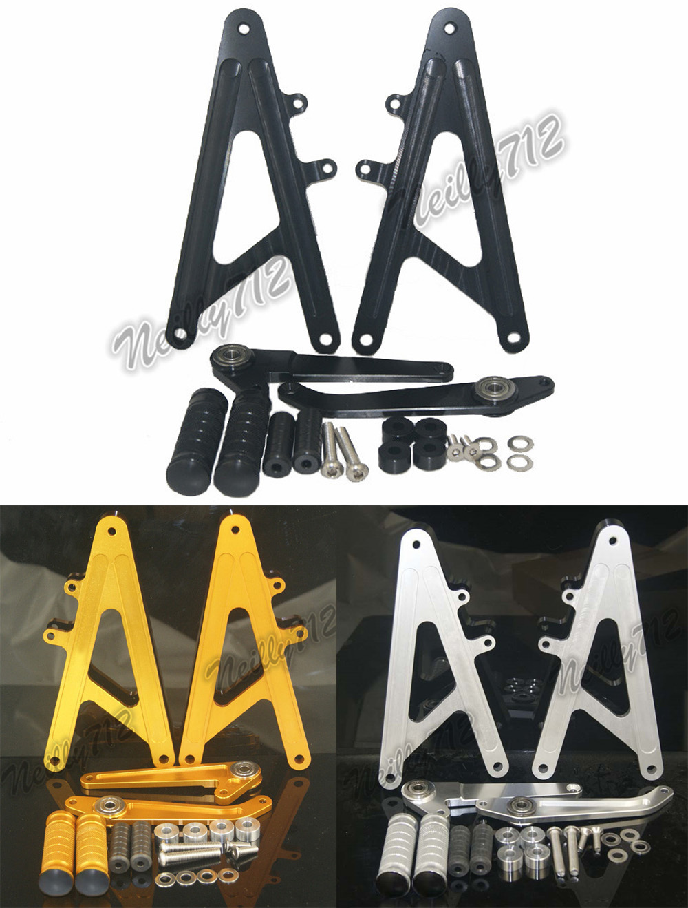waase CNC Aluminum Racing Rearset Rear Sets Footrests Foot Rest Pegs For HONDA RS GP 125 RS125 GP125 125GP раскладушка therm a rest therm a rest luxurylite mesh xl