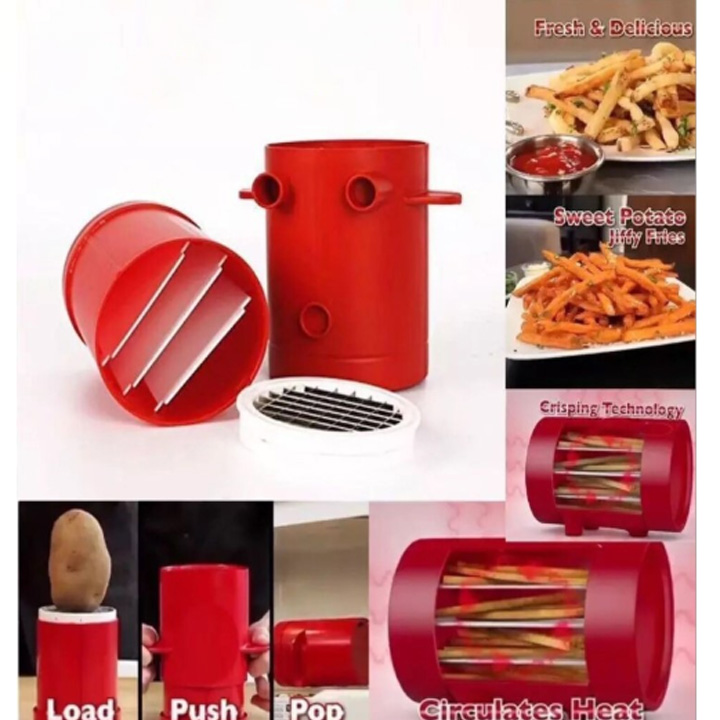 Potato Cut Device Potato Chip Cutter French Fries Baked  Machine Microwave French Fries Cup Kitchen DIY Equipment
