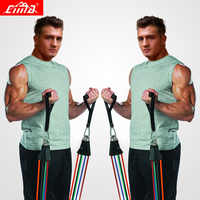 CIMA Resistance Bands 11 PCS Fitness loop ropes Tubes pull up Set Gym Equipment Exercise Handles trainer latex Yoga Bands