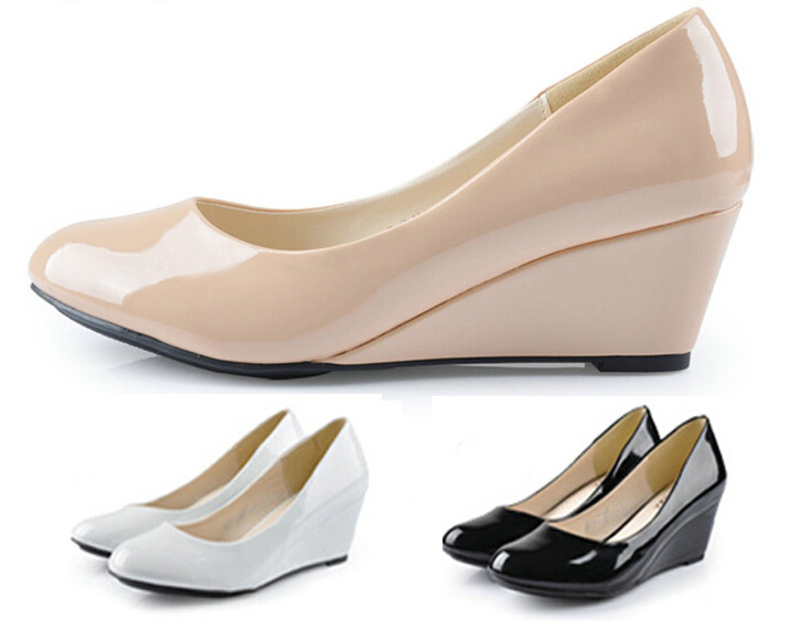Popular Nude Patent Wedges-Buy Cheap Nude Patent Wedges lots from ...