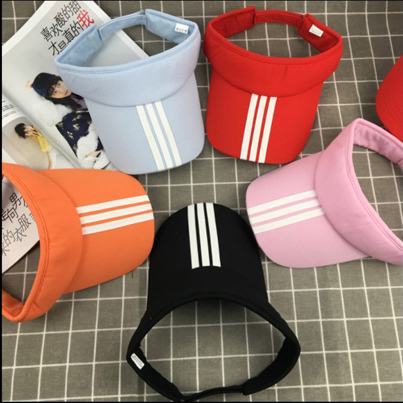 Cap Hat Golf-Caps Sun-Visor Striped Outdoor Running Summer Women Sunhat Unisex Adjustable