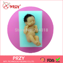 PRZY Baby silicone mold fondant silicon cake decoration free shipping