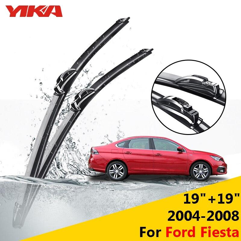 YIKA Windscreen Wiper Car U Type Glass Rubber Windshield Wiper Blades Ford Fiesta 2004 2008 19