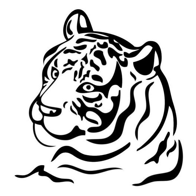 1313 7cm Classic Tiger Stripe Fashion Vinyl Car Styling Decals