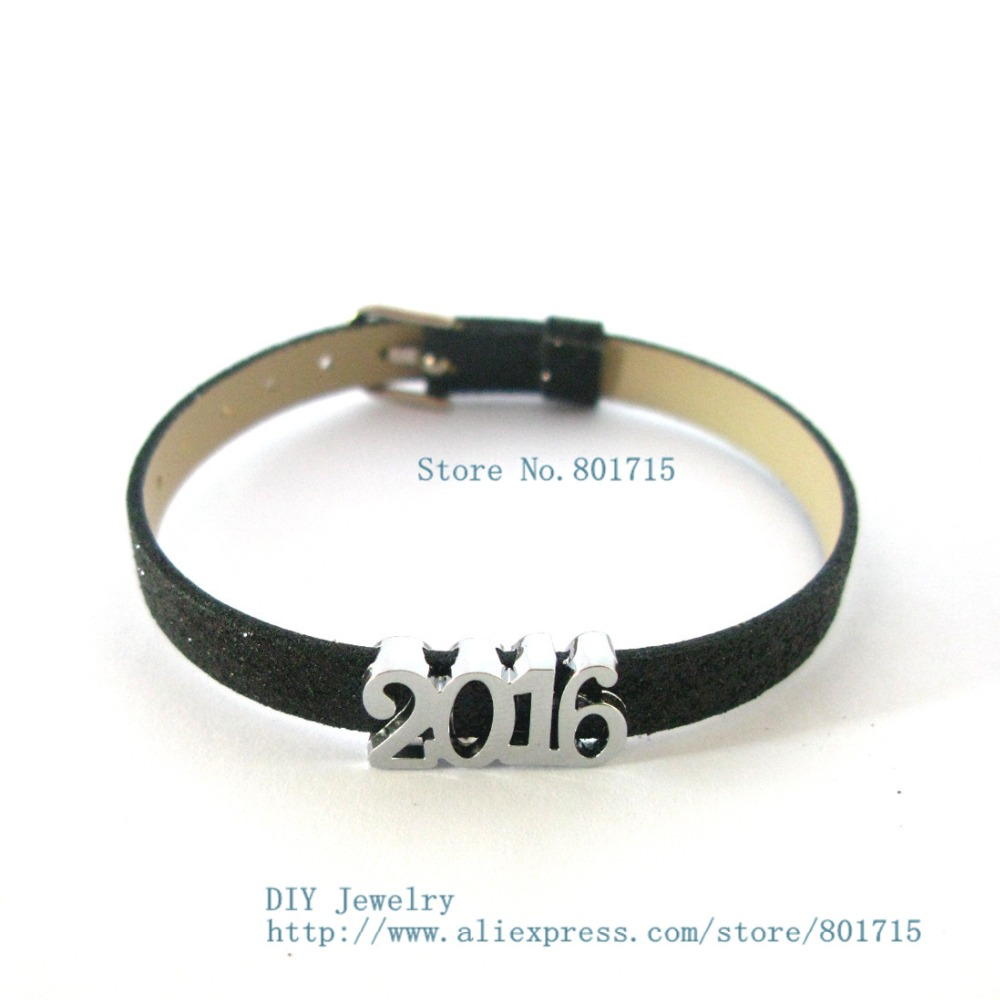 New Style 10pcs 2016 SL361 Internal Dia.8mm slide Charms Jewelry Finding fit 8mm wristband pet collar key chain