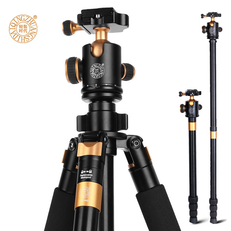 New QZSD Q968 65 inch Professional Stable Aluminum Camera Photo Tripod For Canon Nikon Sony DSLR