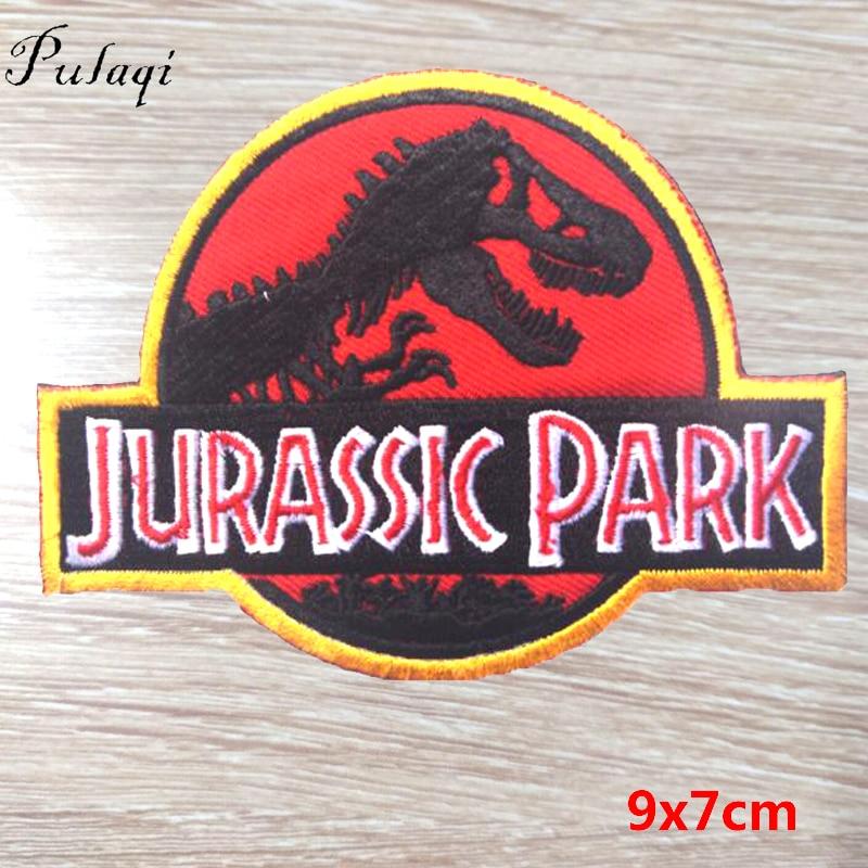 Pulaqi 100 pièces Jurassic Park Badge Fer Sur Des Patchs Pour Vêtements Peinture Patch Pour Vêtements Pour Enfants T-shirt Décoration Accessoires F