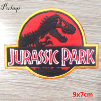 Pulaqi 100pcs Jurassic Park Badge Iron On Patches For Clothing Painting Patch For Kids Clothes T shirt Decoration Accessories F
