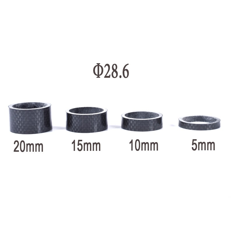 Carbon Fibre Glossy Headset Spacers 8