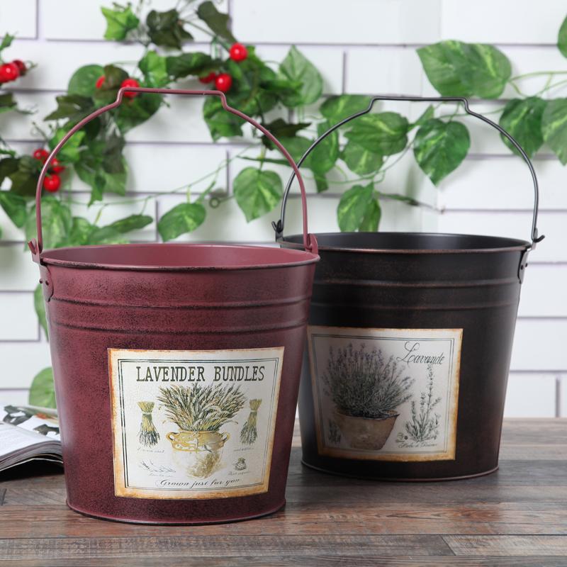estilo americano estao cubo decoracin del hogar jardn macetas jardineras de hierro forjado artculos de tapicera