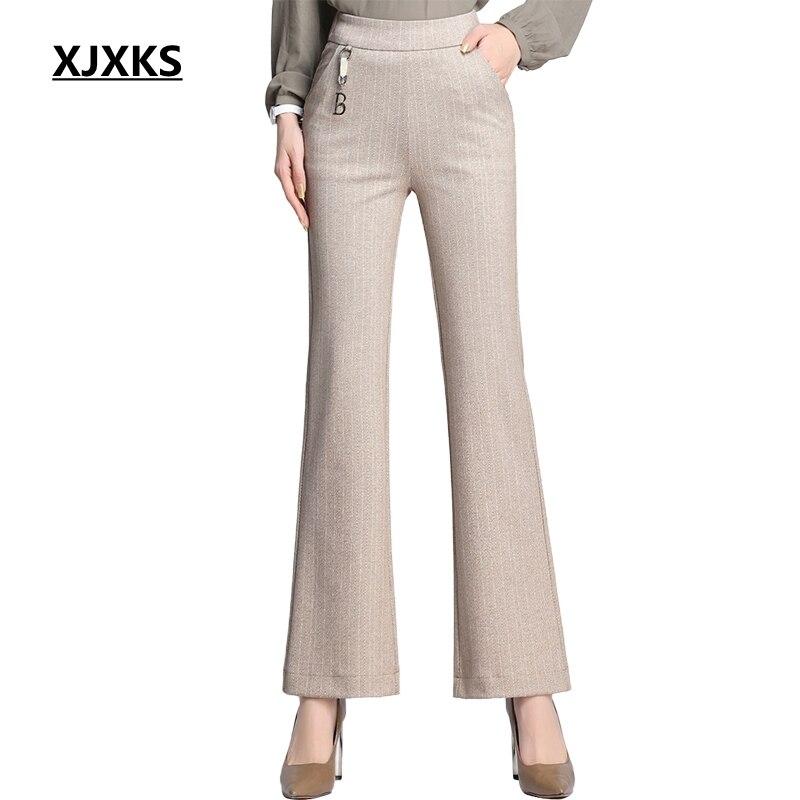 XJXKS Women   Pants   Plus Size   Pants   Fall 2019 Long   Pants   Women High Waist   Pants   Women Trousers   Wide     Leg     Pants   Casual   Pants