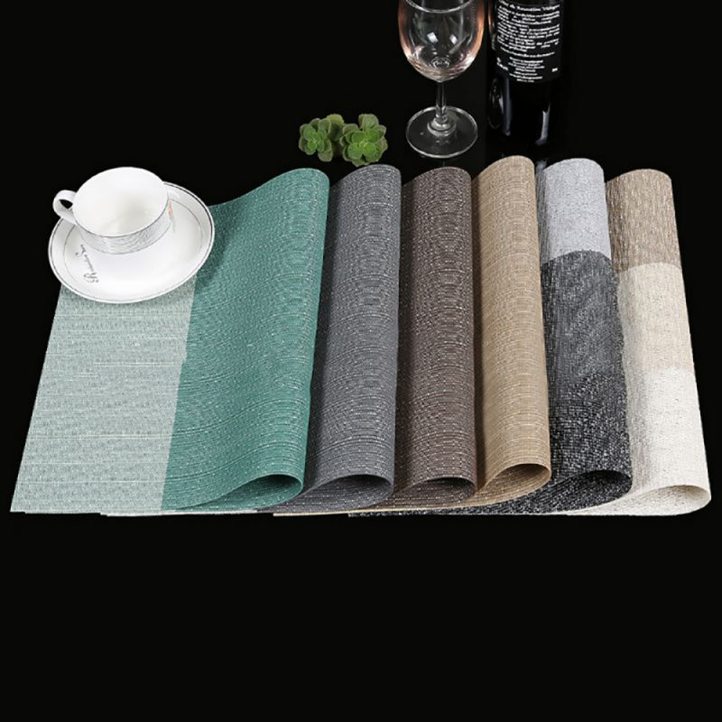 New 4pcs/Set New Exquisite PVC Japanese-Style Placemats Vinyl Place Mats For Table Heat-Resistant Home Kitchen Accessories Tablo