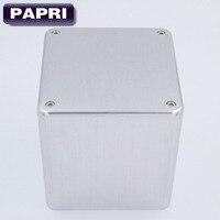 PAPRI 1PC 134 134 136mm Silver Aluminum Transformer Cover Case Box Protect Cover Enclosure For Audio
