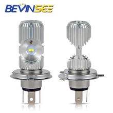 Bevinsee LED Motorcycle Headlight Bulbs Head Lamp Lights L12-H4/9003 Hi/Lo Beamn For Kawasaki Brute Force 300 2012-2018