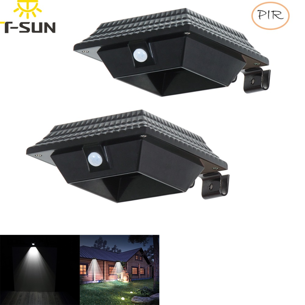 Außenbeleuchtung Licht & Beleuchtung T-sunrise 2 Pack Outdoor Solar Licht Led-strahler Garten Lampe Solar Gutter Licht Außen Beleuchtung Für Outdoor Sicherheit